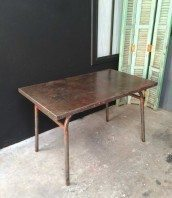 table bistrot metal